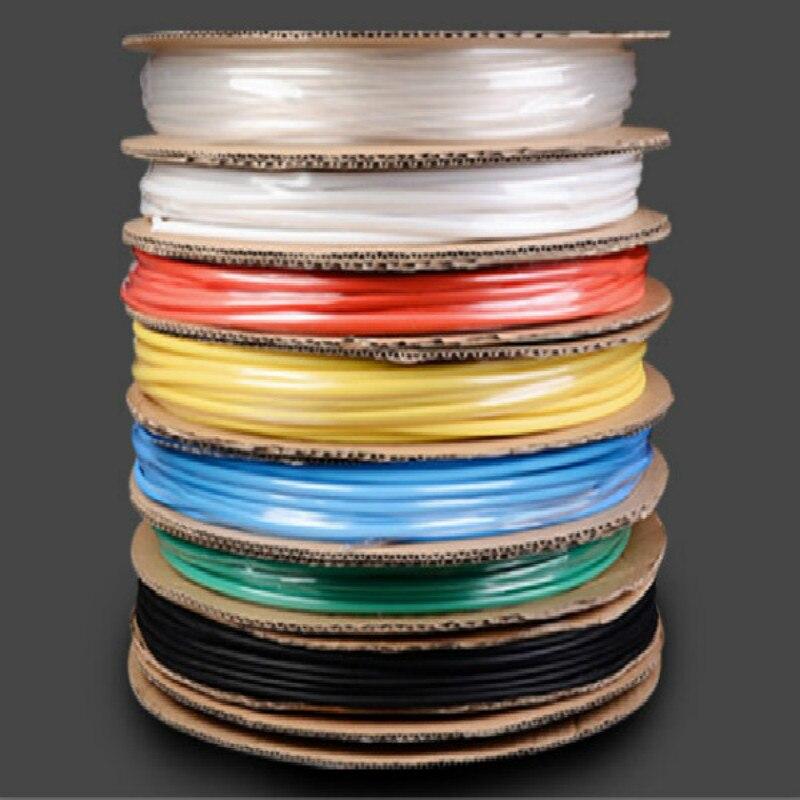 Белый, синий, желтый, черный, красный термоусадочная трубка кабельная втулка термоусадочная трубка термоусадочная проволочная втулка диам...