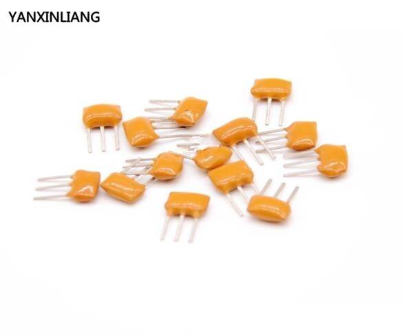 20 piezas resonadores cerámicos DIP-3 filtros cerámicos LT10.7M 3P 10,7 MHZ ZTT10.7M ZTT10.7
