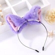 Hot Cute Sexy Cat Ears Fox Ears Hair Bands Lolita Royal Sister Fox Demon Performance Headdress Props Plush Headbands Gift