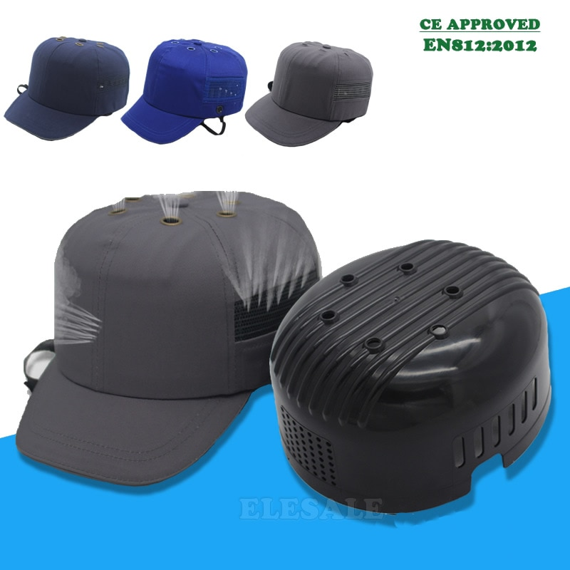 High Quality Work Safety Cap Helmet Baseball Hat Style Bump Protective Hard PP Shell For Home Site Head Protection