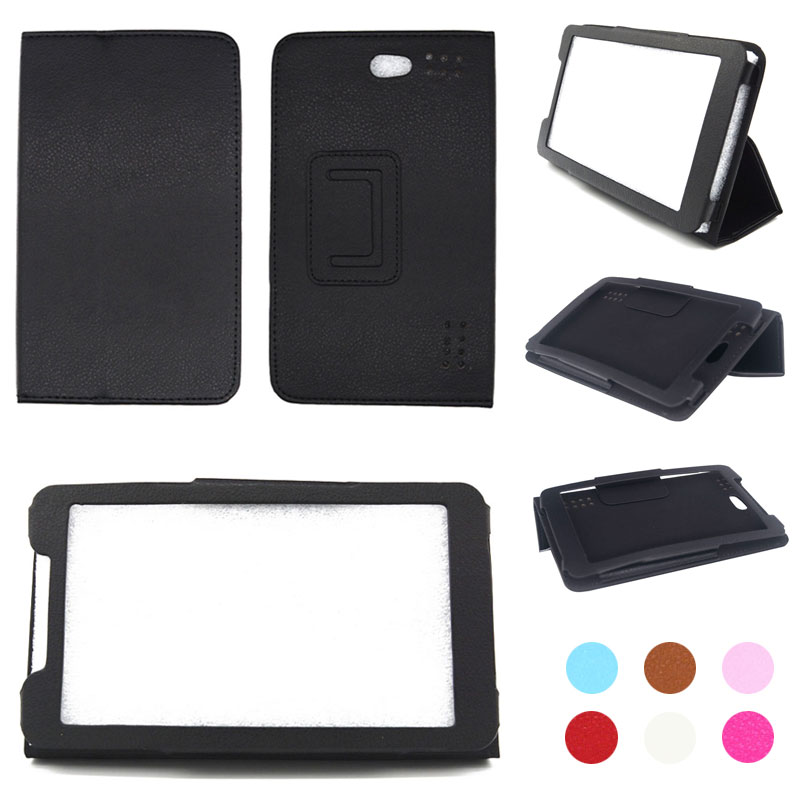 Para Luxpad 7716 7 pulgadas Tablet PU cuero plegable Funda tipo libro soporte cubierta + lápiz óptico + película protectora de pantalla