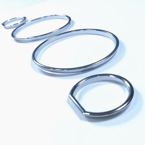 Juego de anillos de estilismo para el panel de mandos cromado para modelos BMW E32 / E34