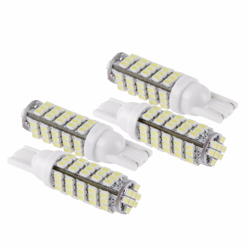 4 pçs lampadas t10 pingo 68 leds + brilho t10 194 w5w carro moto 12v