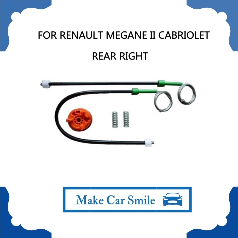 FOR RENAULT MEGANE II 2 CABRIOLET 2002-2009 Power Electric Car Window Regulator Window Lifter Repair Kit Set Rear Right
