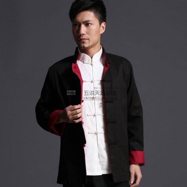 معطف كونغ فو للرجال, ملابس تقليدية طويلة الأكمام على الطراز الصيني للربيع