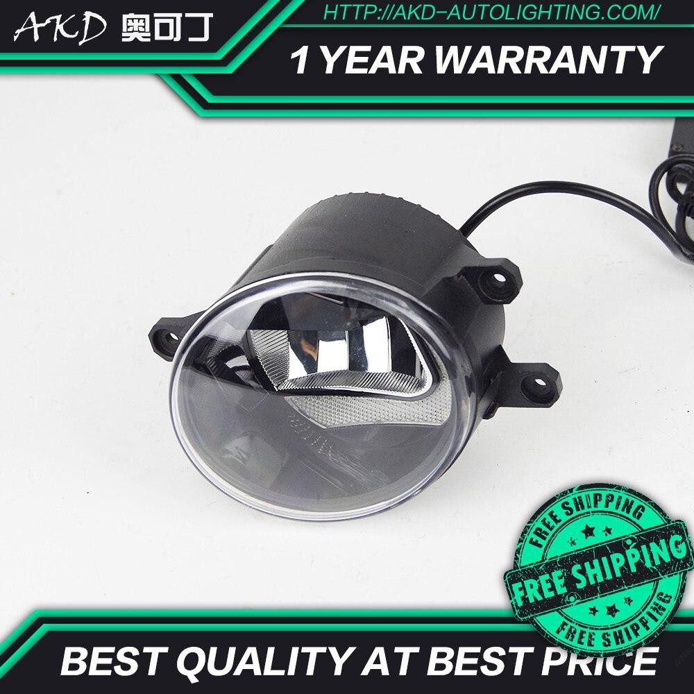 AKD, lámpara LED antiniebla de coche para Lexus CT200H IS250 ES350H GS300H, foglamp forma C 2 funciones, DRL, barra de luz, ahorro de energía, Cob, haz bajo