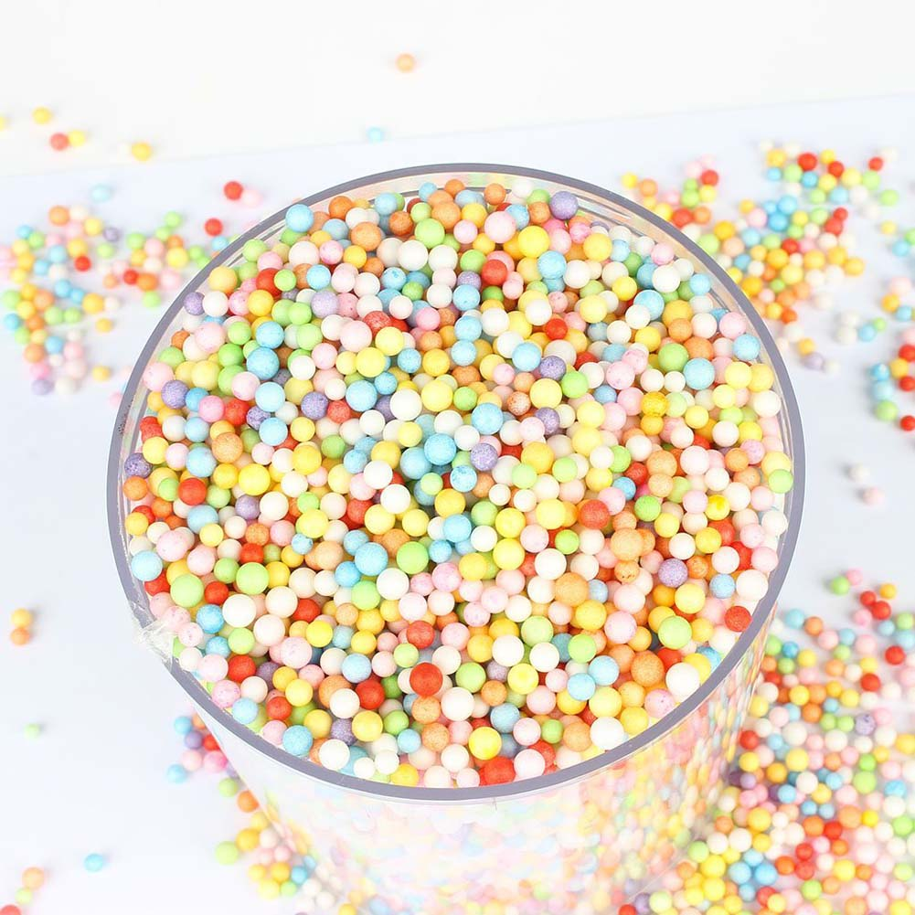 ¡2000 unids/pack! Bola de burbuja para niños, Material DIY, bola de espuma de colores, partículas decorativas, caja de regalo, relleno de almohada