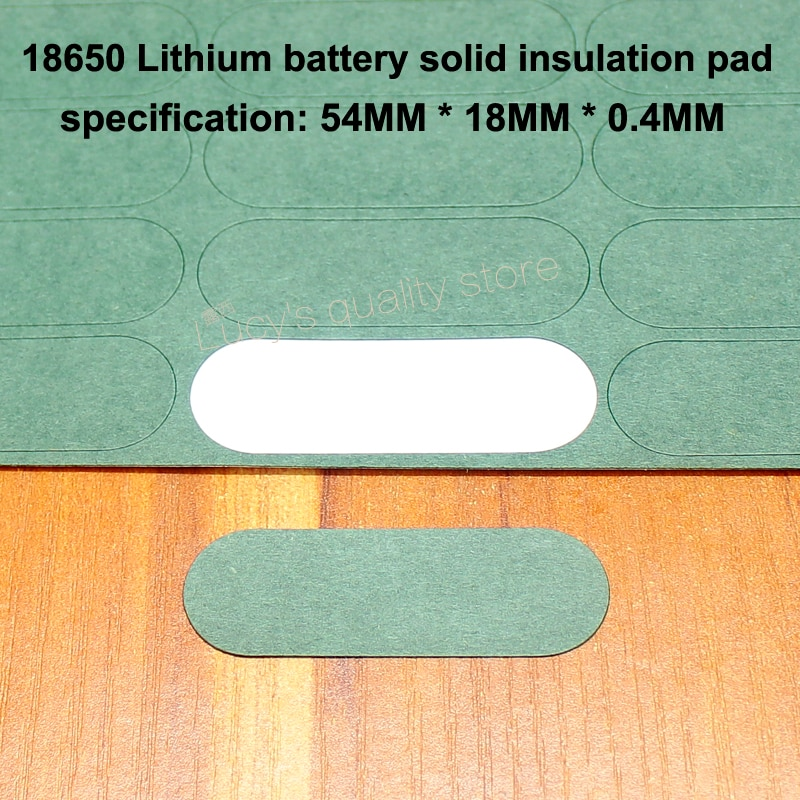 100pcs/lot 18650 Lithium Battery Insulation Pads 3S Solid Pads Insulation Pads Battery Accessories