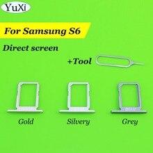 Новый лоток для sim-карты YuXi, для Samsung Galaxy S6 Edge, держатель слота для sim-карты, детали корпуса