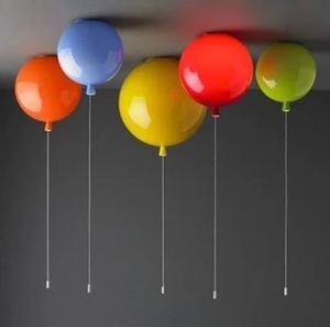 New creative personality modern minimalist bedroom lights decorative lights color balloon light children's room  ceiling lamp