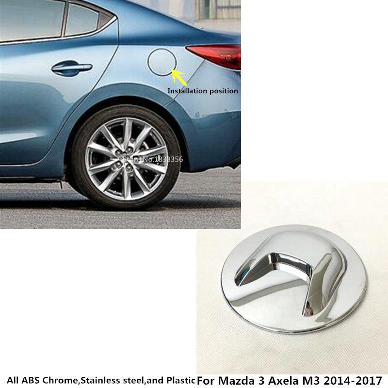 Estilismo para carrocería de coche, tapa protectora de tanque de Gas/combustible/aceite, moldura de Marco con lámpara 1 Uds. Para Mazda 3 Axela M3 2014 2015 2016 2017 2018 2019