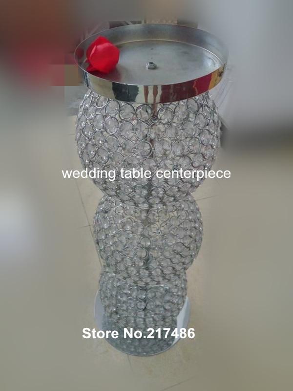 Nuevo estilo decorativo cristal cuentas boda pilares para la venta