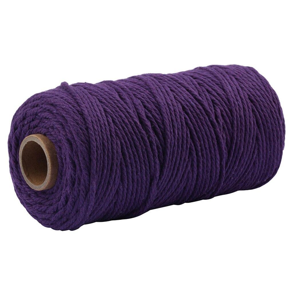 Cordón de algodón de macramé para colgar en la pared, atrapasueños de 3,5 MM x 100M, hilos para tejer, un gancho de ganchillo para tejer, 2020