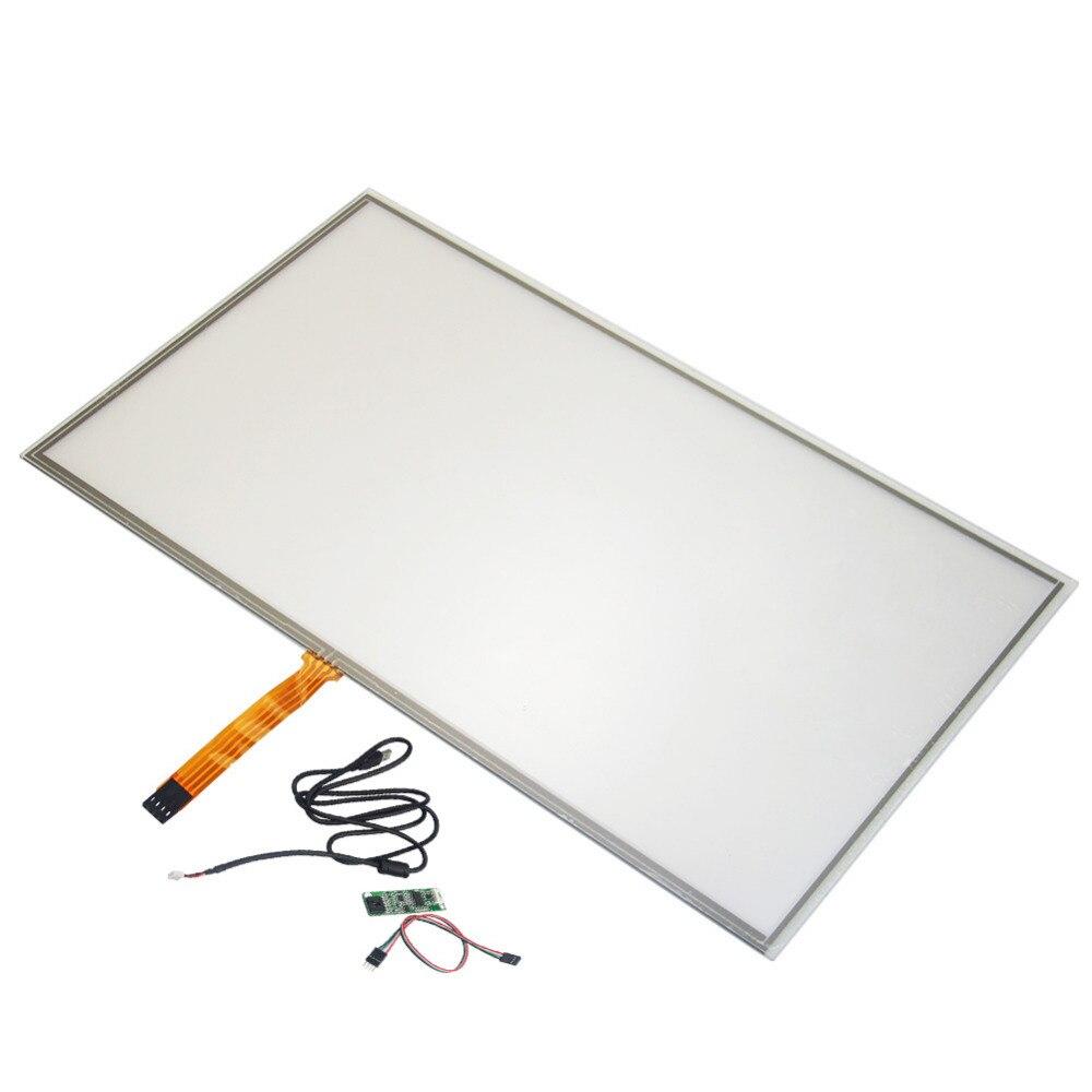Painel da Tela de Toque Vidro + Usb Widescreen Resistive Indústria Digitador Controlador Ganhar 7 pc 15.6 359*209mm 4 Fio