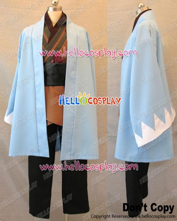 Hakuoki Hakuouki Shinsengumi Kitan Cosplay souji Okita azul capa H008