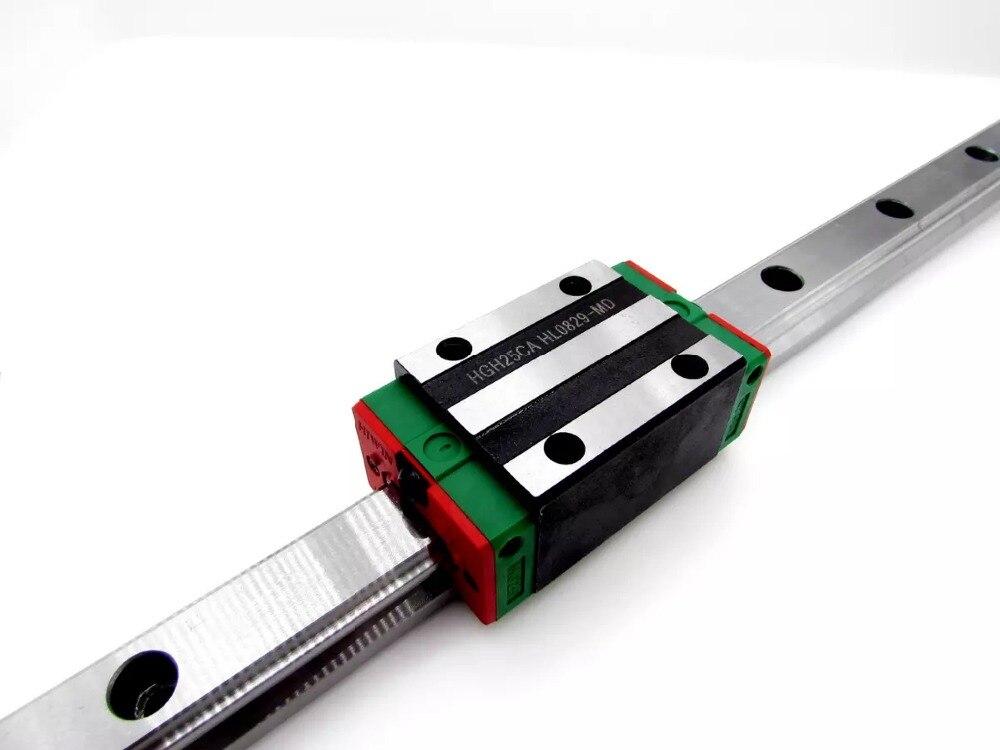 الصين صنع نوعية جيدة 2 قطعة HGR25-1600MM الخطي دليل + 4 قطعة HGH25CA كتل CNC