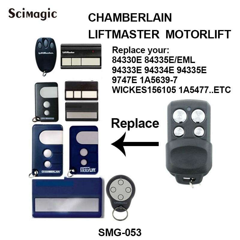 5 peça chamberlain liftmaster 1a5477 1a6487 132b2372 D-66793 wickes156105 controle remoto liftmaster porta da garagem 433.92 mhz