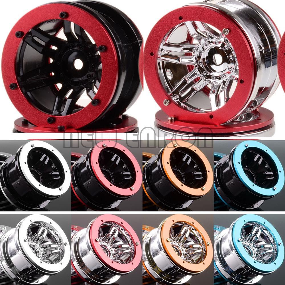 "NEW ENRON 4Pcs 2.2"" Beadlock Wheel Rims RC 1:10 Rock Crawler Car FOR D90 CC01 HSP Axial SCX10 SCX10 II YETI Traxxas TRX4"