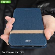 Funda de silicona MOFi para xiaomi mi A1, funda de silicona para xiaomi A2, carcasa de tpu para Xio mi 5X mi 6X, funda de libro Folio Original