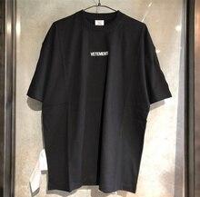 Мужские и женские футболки Vetements, Большие футболки из хлопка с вышивкой логотипа, 2019