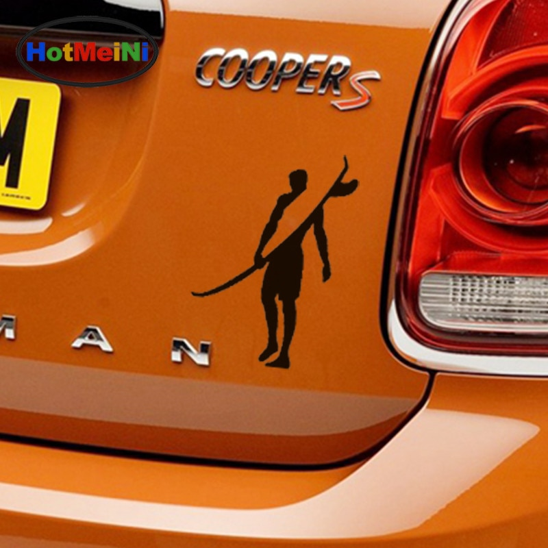 HotMeiNi Car Sticker Brave Adventurers Strong Surf Man Bumper SUV Laptop Kayak Car Styling Vinyl Decal Tailgate 13*10cm