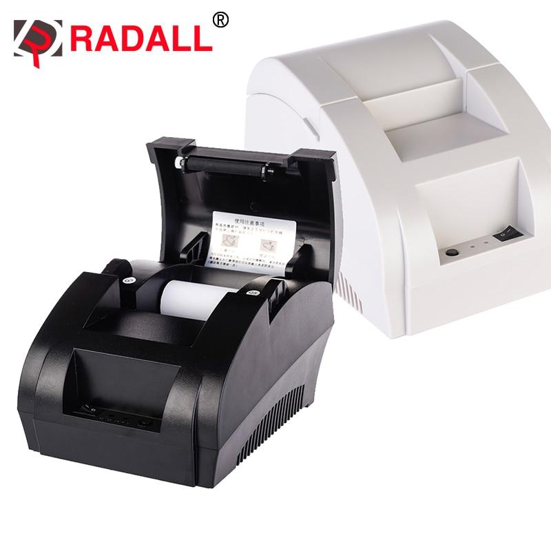 RADALL POS 58mm impresora térmica de recibos portátil, barata, impresora USB integrada, rollo de papel con controladores para restaurante-RD-5890K
