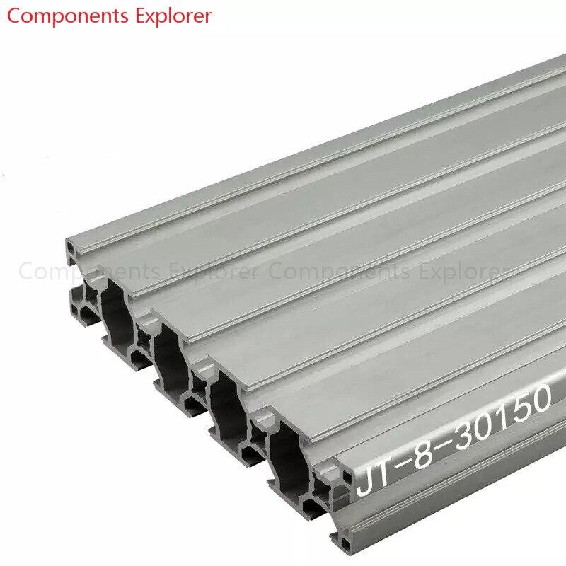 Corte arbitrario 1000mm 30150 perfil de extrusión de aluminio, Color plateado.