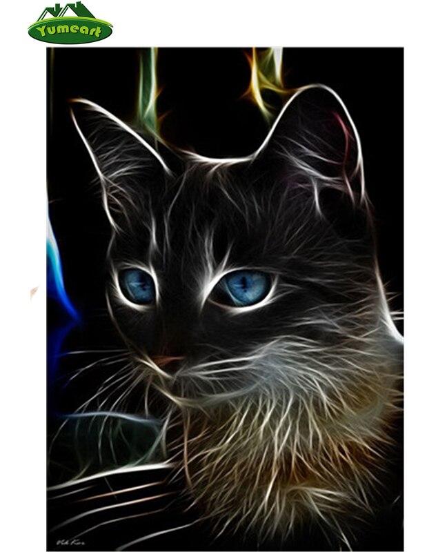 5D Icon Diamond Embroidery Black Cat 3D DIY Diamond Painting Cross Stitch Needlework Mosaic Full Drill Rhinestone Decor Painting