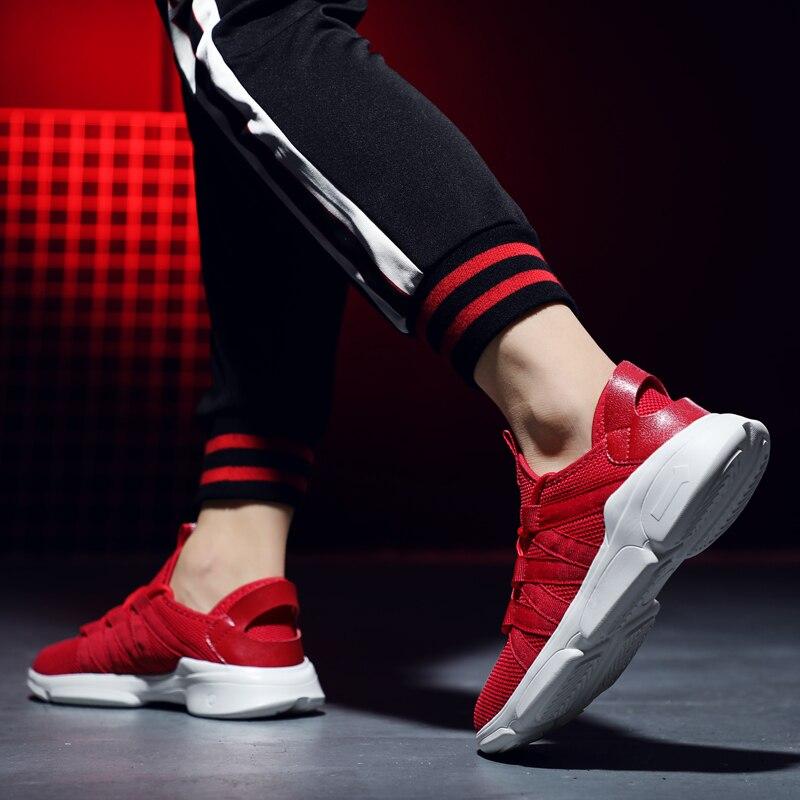 Купить с кэшбэком 2019 New Lightweight Shoes Men Casual Shoes Men Flats Outdoor Sneakers Mesh Breathable Walking Footwear Trainers Big size 39-48
