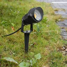 Nieuwe Stijl COB Tuin Gazon Lamp Licht 220V 110V 12V Outdoor LED Spike Light 5W Path landschap Waterdichte Spot Lampen
