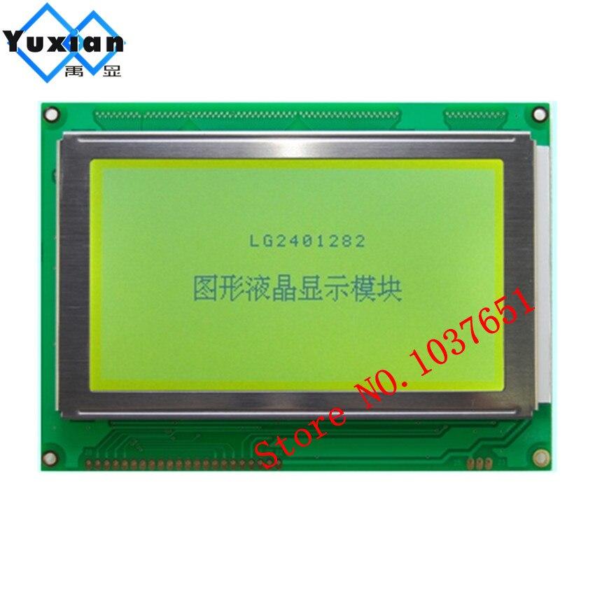 1 Uds 5,1 pulgadas 240*128 pantalla lcd panel Módulo 5V verde 22pin T6963C RA6963 LG2401282BMDWH6V en HDM128GS24Y-1-9J1F