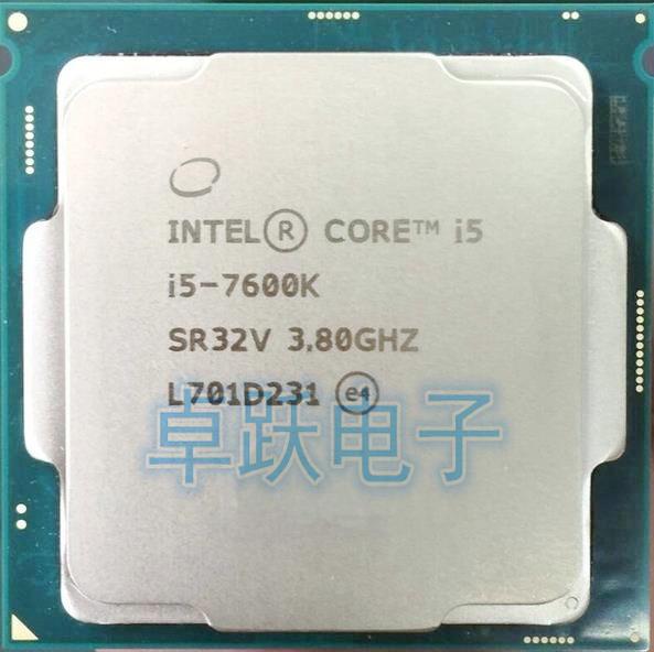 Intel Core i5 7600K i5-7600K 3.8GHz Quad-Core 6MB Cache TDP 91W 14 nanometers Desktop LGA 1151 CPU Proces free shipping