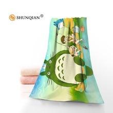 New Custom My Neighbor Totoro Towel Printed Cotton Face/Bath Towels Microfiber Fabric For Kids Men Women Shower Towels A8.8