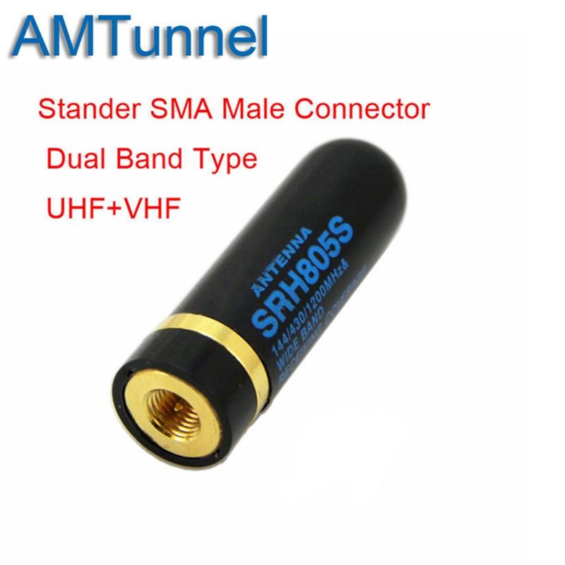 SRH805S de doble banda UHF + Antena VHF SMA macho para $TERM impacto Baofeng UV3R UV100 LINTON LT6100 LT6188 YAESU vértice VX-6R radio