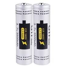 GTF 2 sztuk 3.7V 18650 baterii rzeczywistej pojemności 3500mAh Li-ion akumulator wskazał baterii do latarki latarka Drop shipping komórki