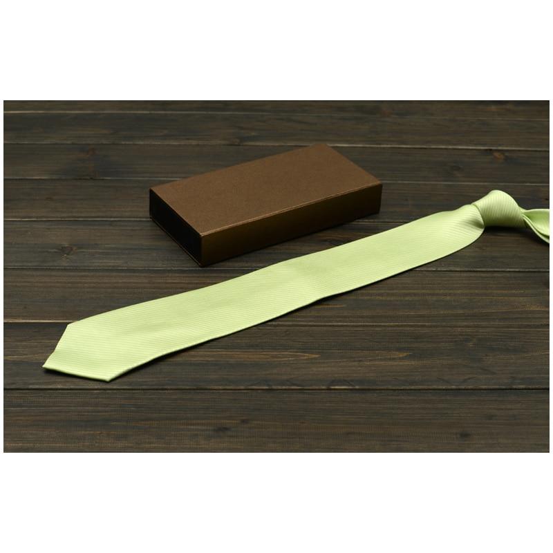 High Quality Men's Ties New 2019 Vestidos Business Wedding Necktie Male Dress Gravata Solid Color Slim 8CM Tie For Men Gift Box