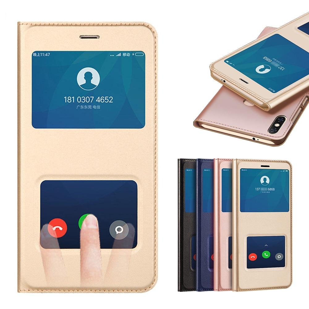La cubierta del cuero del tirón de funda de teléfono para Xiaomi Redmi 5 6 Plus Pro 6A nota 5A primer Redmi5 Redmi5A Redmi6 Redmi6A Note5A Mi 6X A2 Lite