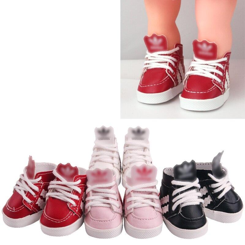 Обувь для кукол, 14,5 дюйма, модная спортивная обувь, кроссовки из искусственной кожи для американских рожденных, обувь для спортивного зала, ...