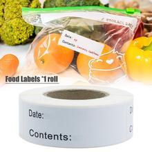 Contenants en verre autocollants auto-adhésif amovible congélateur étiquettes alimentaires facile à nettoyer stockage des aliments pot autocollant en plastique papier outils