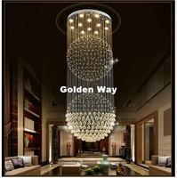 Free Shipping Modern Staircase K9 Crystal Chandelier Lighting Pendant Lamp Crystal Ceiling Lamp Living Room Bedroom Hanging Lamp