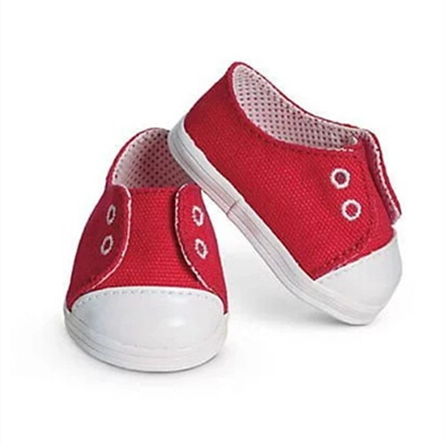 Red sport shoes fit  for baby 43cm Doll  Children best  Birthday Gift
