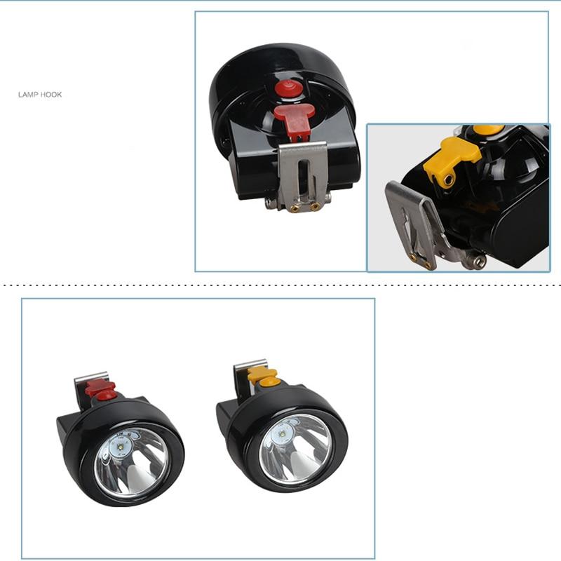 12 PCS/LOT  KL2.8LM(A) LED Miner Cap Lamp Mining Light Lithium Ion Headlamp