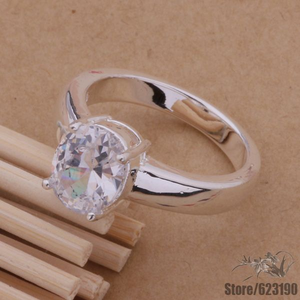 AR099 anel Prateado, anel de Prata Banhado A jóia da forma, caro transparente pedra/dwcamnja fioanzva