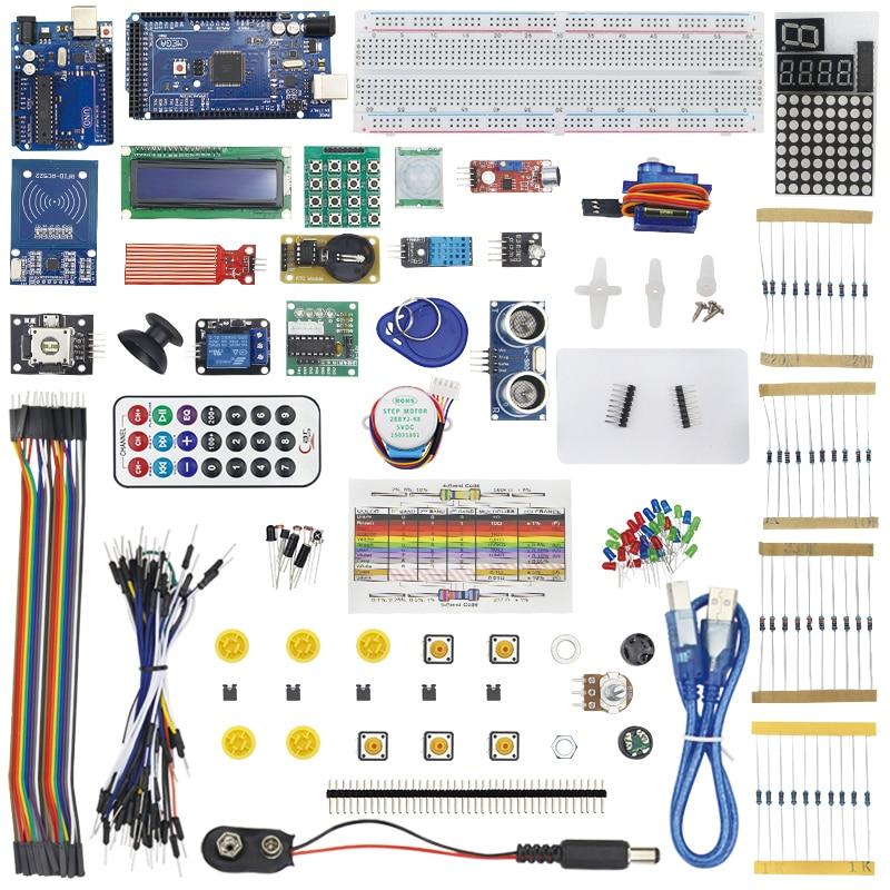 RFID Master Starter Kit для DIY RC522 RFID сенсор модуль LCD сервопривод компоненты для UNO R3 для Мега 2560 робот макетный комплект