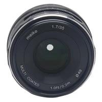 Mcoplus Meike 35mm f1 7 Manual Focus Lens Large Aperture for Nikon 1 Mount Mirrorless APS-C Camera J1 J2 J3 J4 J5 V1 V2 V3 S1S2