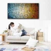 new 100 handpainted modern abstract oil painting handmde vertical textured painting wall decorative picture for living room