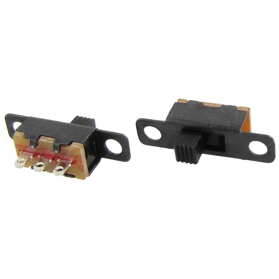 50 pces on/on 2 posição 1p2t spdt mini painel interruptor deslizante solda lug SS12F1-G3