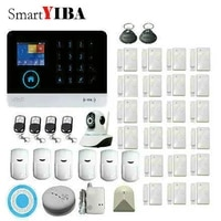 SmartYIBA     systeme dalarme de securite domestique sans fil  wi-fi  anti-cambriolage  controle avec applications IOS Android  GPRS  RFID  Kits dalarme  detection de fumee PIR