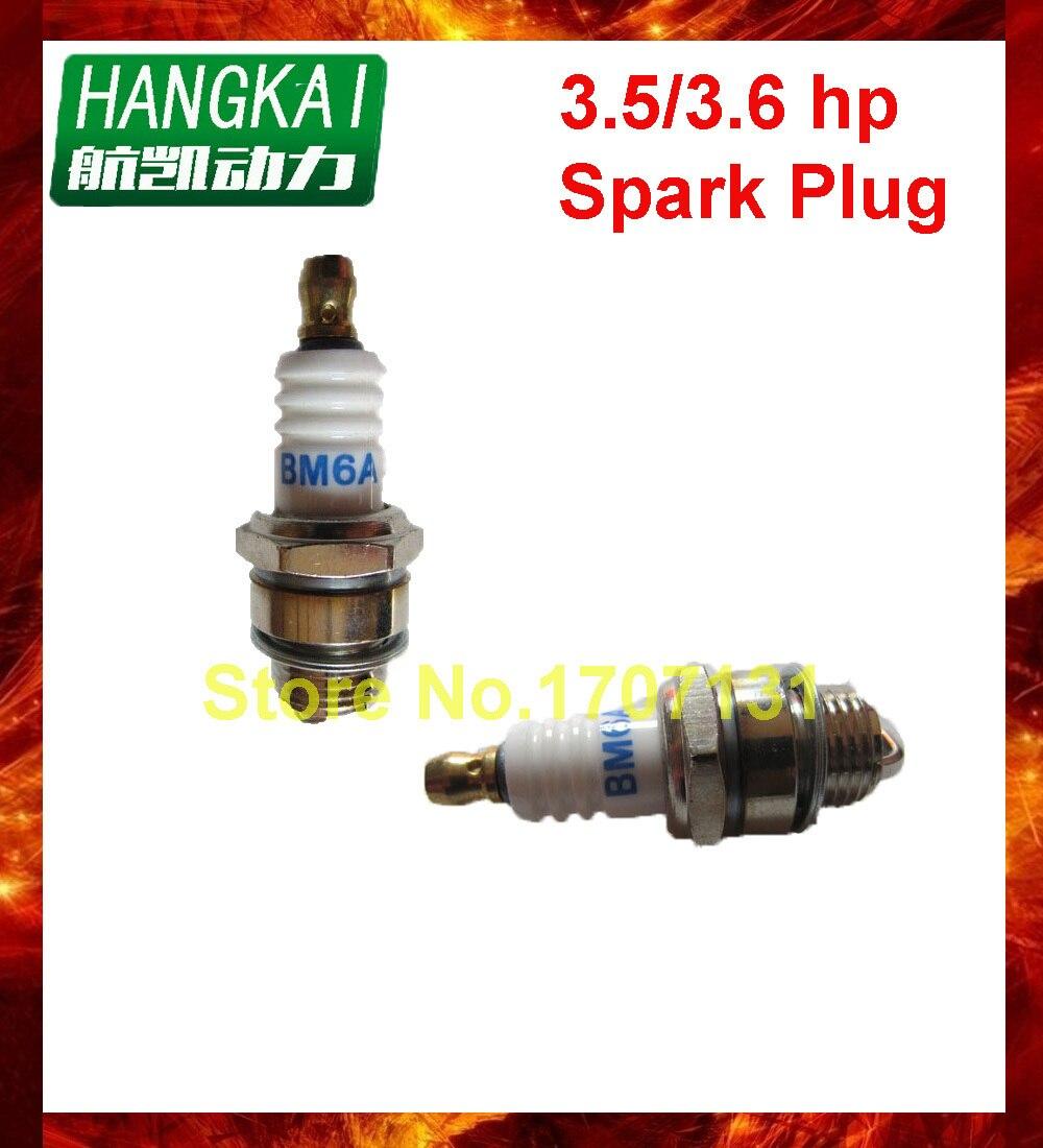 ¡Envío gratis! pieza de motor fueraborda bujía para Hangkai 3,5/3,5 caballos de fuerza 2 tiempos accesorios motor barco