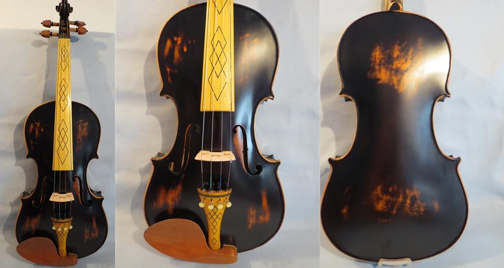 Nuevo, 4/4, tapa de picea sólida de violín y parte trasera de arce hecha a mano, tono bonito #12685